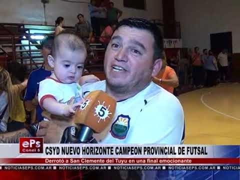 CSYD NUEVO HORIZONTE CAMPEON PROVINCIAL DE FUTSAL