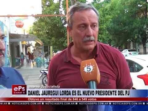 DANIEL JAUREGUI LORDA ES EL NUEVO PRESIDENTE DEL PJ