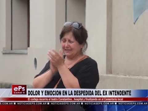 DOLOR Y EMOCION EN LA DESPEDIDA DEL EX INTENDENTE