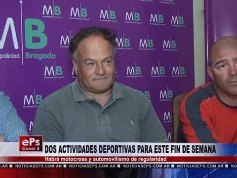 DOS ACTIVIDADES DEPORTIVAS PARA ESTE FIN DE SEMANA