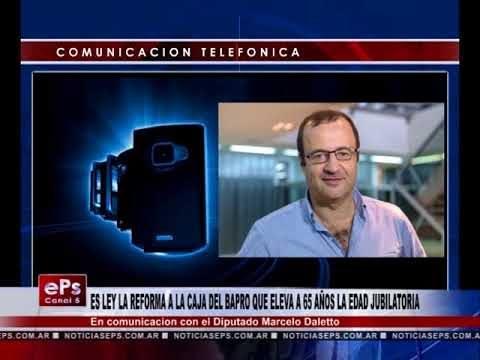 ES LEY LA REFORMA A LA CAJA DEL BAPRO QUE ELEVA A 65 AÑOS LA EDAD JUBILATORIA