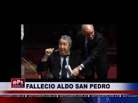 FALLECIO ALDO SAN PEDRO
