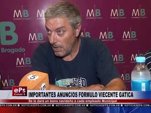 IMPORTANTES ANUNCIOS FORMULO VIECENTE GATICA