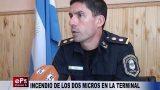 INCENDIO DE LOS DOS MICROS EN LA TERMINAL