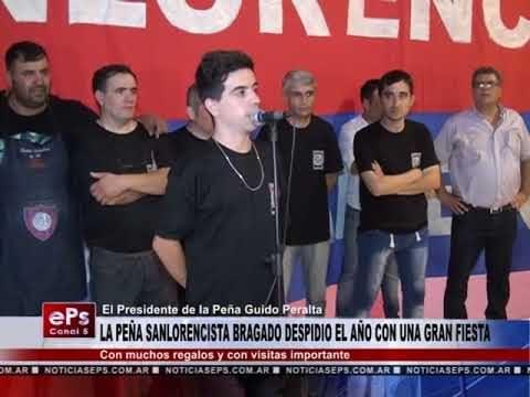 LA PEÑA SANLORENCISTA BRAGADO DESPIDIO EL AÑO CON UNA GRAN FIESTA