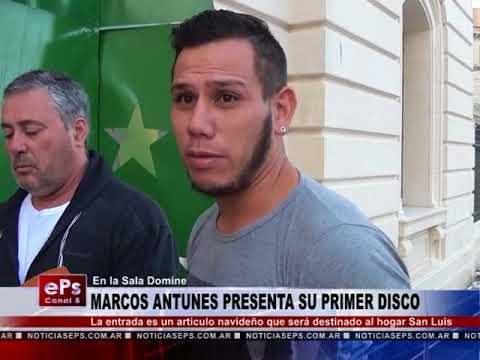 MARCOS ANTUNES PRESENTA SU PRIMER DISCO