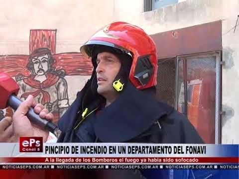 PINCIPIO DE INCENDIO EN UN DEPARTAMENTO DEL FONAVI