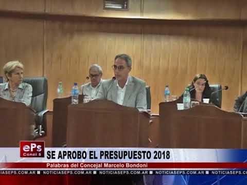 SE APROBO EL PRESUPUESTO 2018 PARTE 2