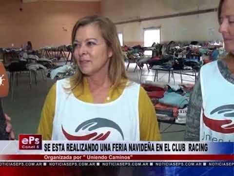 SE ESTA REALIZANDO UNA FERIA NAVIDEÑA EN EL CLUB RACING