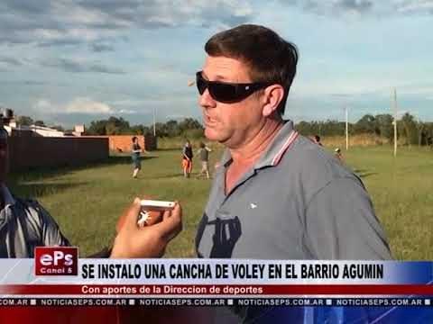 SE INSTALO UNA CANCHA DE VOLEY EN EL BARRIO AGUMIN