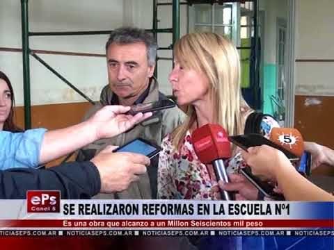 SE REALIZARON REFORMAS EN LA ESCUELA Nº1