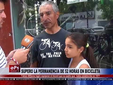 SUPERO LA PERMANENCIA DE 52 HORAS EN BICICLETA