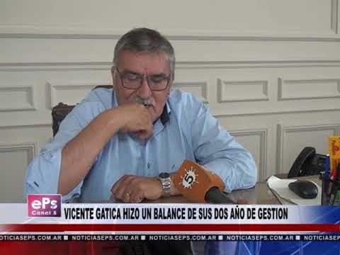 VICENTE GATICA HIZO UN BALANCE DE SUS DOS AÑO DE GESTION PARTE 2
