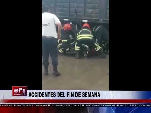 ACCIDENTES DEL FIN DE SEMANA