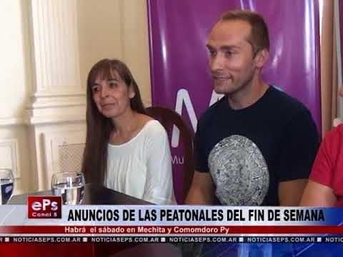 ANUNCIOS DE LAS PEATONALES DEL FIN DE SEMANA
