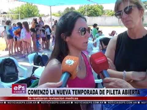 COMIENZO DE LA TEMPORADA DE PILETA ABIERTA