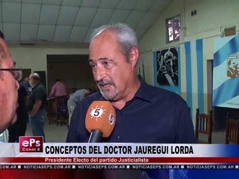 CONCEPTOS DEL DOCTOR JAUREGUI LORDA