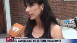 EL VANDALISMO NO SE TOMA VACACIONES