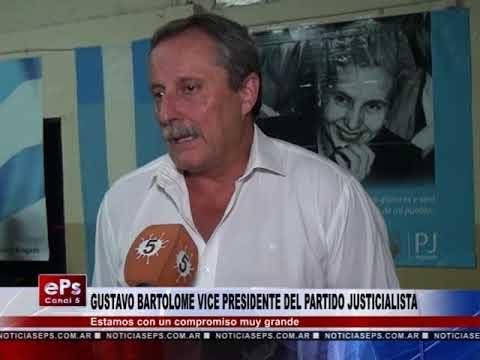 GUSTAVO BARTOLOME VICE PRESIDENTE DEL PARTIDO JUSTICIALISTA
