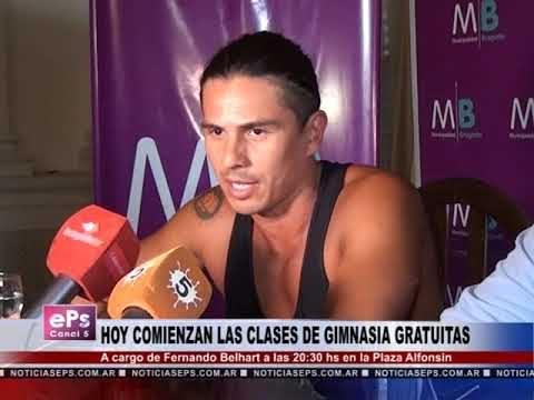 HOY COMIENZAN LAS CLASES DE GIMNASIA GRATUITAS