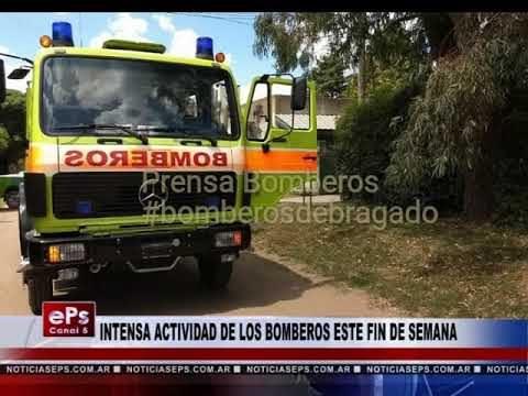 INTENSA ACTIVIDAD DE LOS BOMBEROS ESTE FIN DE SEMANA