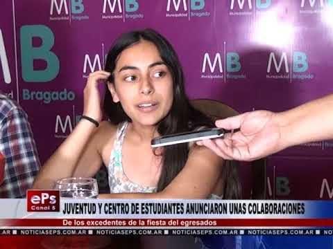 JUVENTUD Y CENTRO DE ESTUDIANTES ANUNCIARON UNAS COLABORACIONES