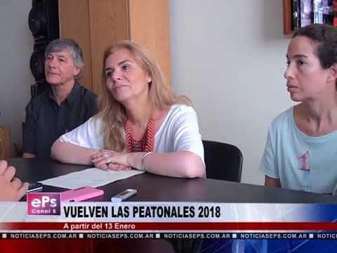 VUELVEN LAS PEATONALES 2018
