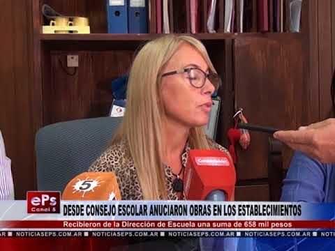 DESDE CONSEJO ESCOLAR ANUCIARON OBRAS EN LOS ESTABLECIMIENTOS