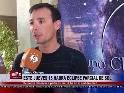 ESTE JUEVES 15 HABRA ECLIPSE PARCIAL DE SOL