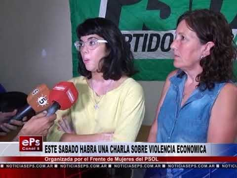 ESTE SABADO HABRA UNA CHARLA SOBRE VIOLENCIA ECONOMICA