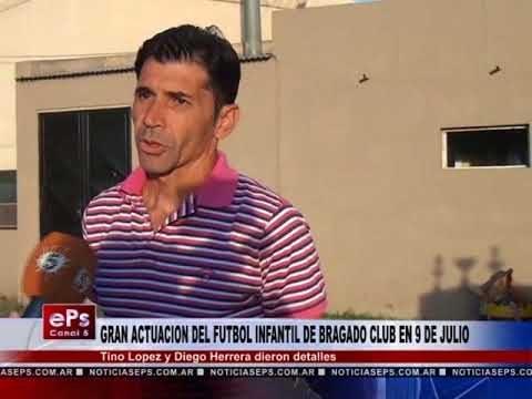 GRAN ACTUACION DEL FUTBOL INFANTIL DE BRAGADO CLUB EN 9 DE JULIO