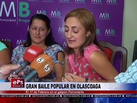 GRAN BAILE POPULAR EN OLASCOAGA