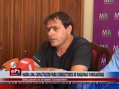HABRA UNA CAPACITACION PARA CONDUCTORES DE MAQUINAS FUMIGADORAS