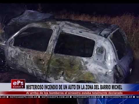 MISTERIOSO INCENDIO DE UN AUTO EN LA ZONA DEL BARRIO MICHEL