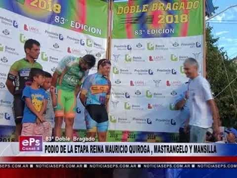 PODIO DE LA ETAPA REINA MAURICIO QUIROGA , MASTRANGELO Y MANSILLA