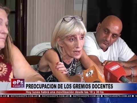 PREOCUPACION DE LOS GREMIOS DOCENTES