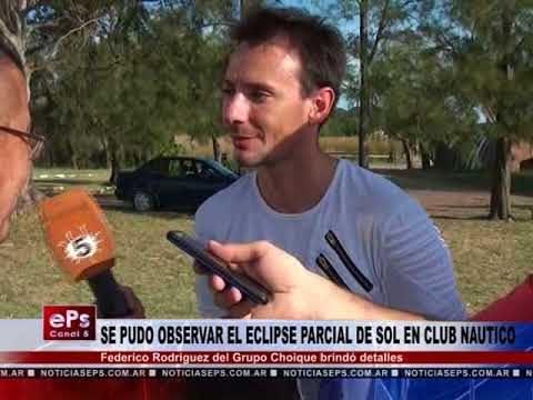 SE PUDO OBSERVAR EL ECLIPSE PARCIAL DE SOL EN CLUB NAUTICO