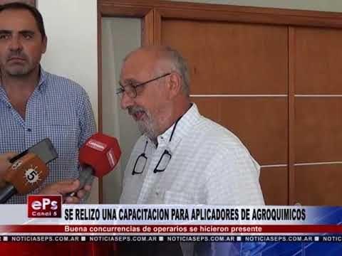 SE RELIZO UNA CAPACITACION PARA APLICADORES DE AGROQUIMICOS