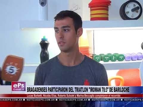 BRAGADENSES PARTICIPARON DEL TRIATLON IROMAN 70 3 DE BARILOCHE