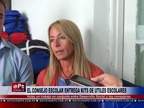 EL CONSEJO ESCOLAR ENTREGA KITS DE UTILES ESCOLARES