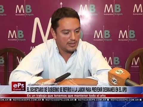 EL SECRETARIO DE GOBIERNO SE REFIRIO A LA LABOR PARA PREVENIR DESMANES EN EL UPD