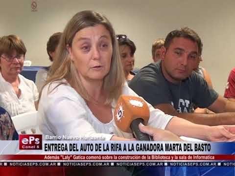 ENTREGA DEL AUTO DE LA RIFA A LA GANADORA MARTA DEL BASTO