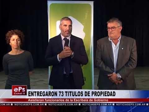 ENTREGARON 73 TITULOS DE PROPIEDAD