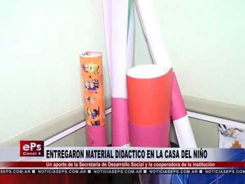 ENTREGARON MATERIAL DIDACTICO EN LA CASA DEL NIÑO
