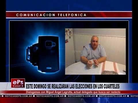 ESTE DOMINGO SE REALIZARAN LAS ELECCIONES EN LOS CUARTELES 1