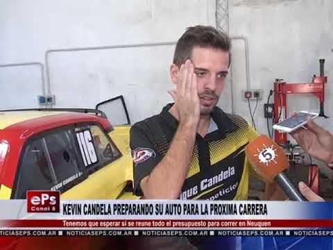 KEVIN CANDELA PREPARANDO SU AUTO PARA LA PROXIMA CARRERA