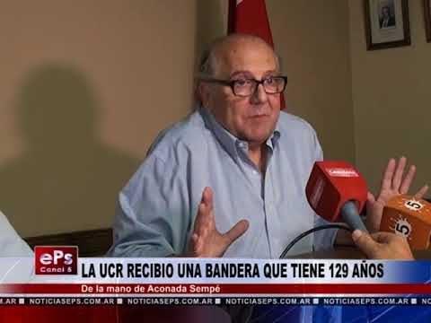 LA UCR RECIBIO UNA BANDERA QUE TIENE 129 AÑOS