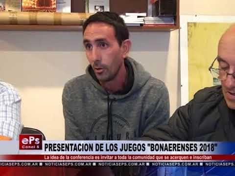 PRESENTACION DE LOS JUEGOS BONAERENSES 2018