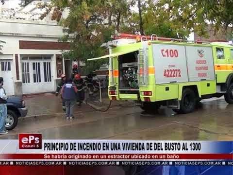 PRINCIPIO DE INCENDIO EN UNA VIVIENDA DE DEL BUSTO AL 1300