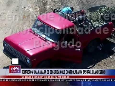 ROMPIERON UNA CAMARA DE SEGURIDAD QUE CONTROLABA UN BASURAL CLANDESTINO